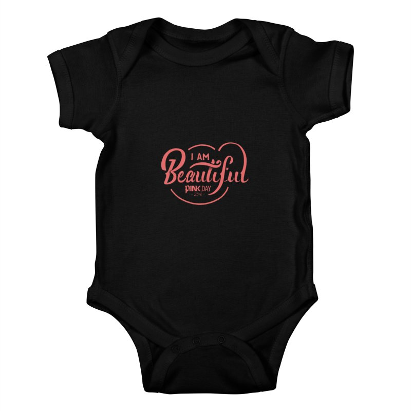 P.ink Day 2016 I Am Beautiful / Pink Wear Kids Baby Bodysuit by P.INK—don't let breast cancer leave the last mark