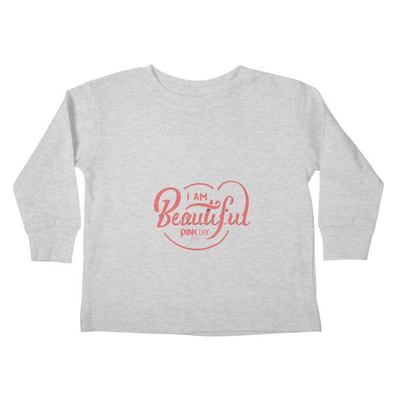 P.ink Day 2016 I Am Beautiful / Pink Wear Kids Toddler Longsleeve T-Shirt by P.INK—don't let breast cancer leave the last mark