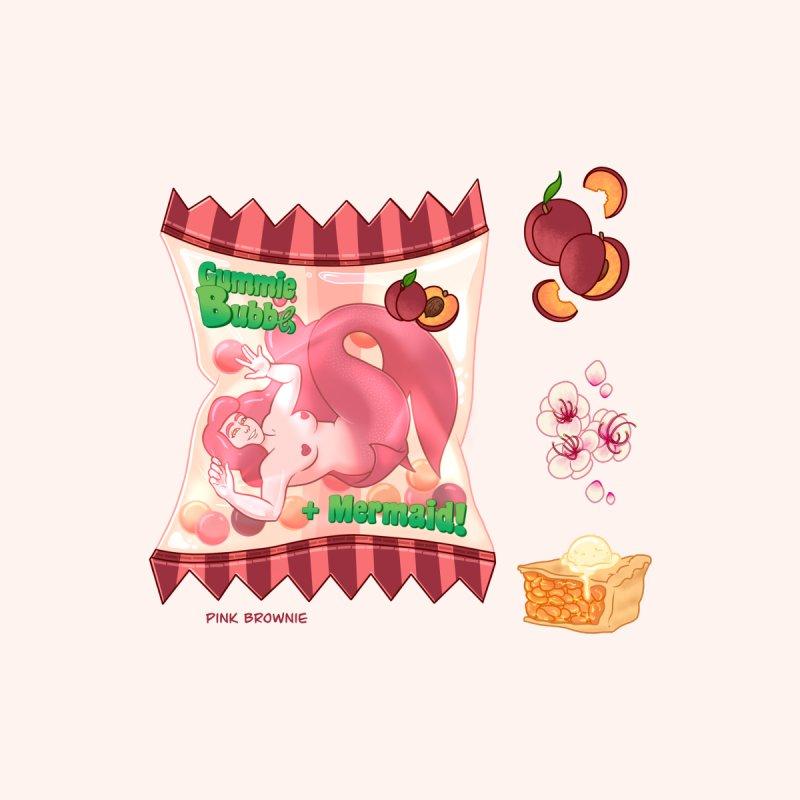 Mermaid Candy - Peach Men's T-Shirt by Pink Brownie
