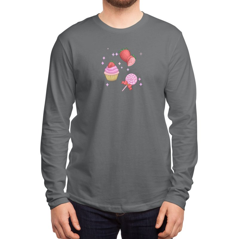 Strawberry Candy Men's Longsleeve T-Shirt by Pink Brownie