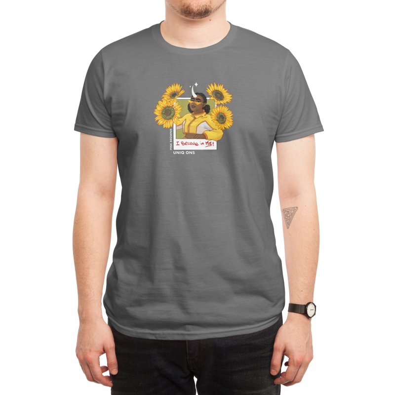 I Believe In Me - Sunflower Unicorn Men's T-Shirt by Pink Brownie