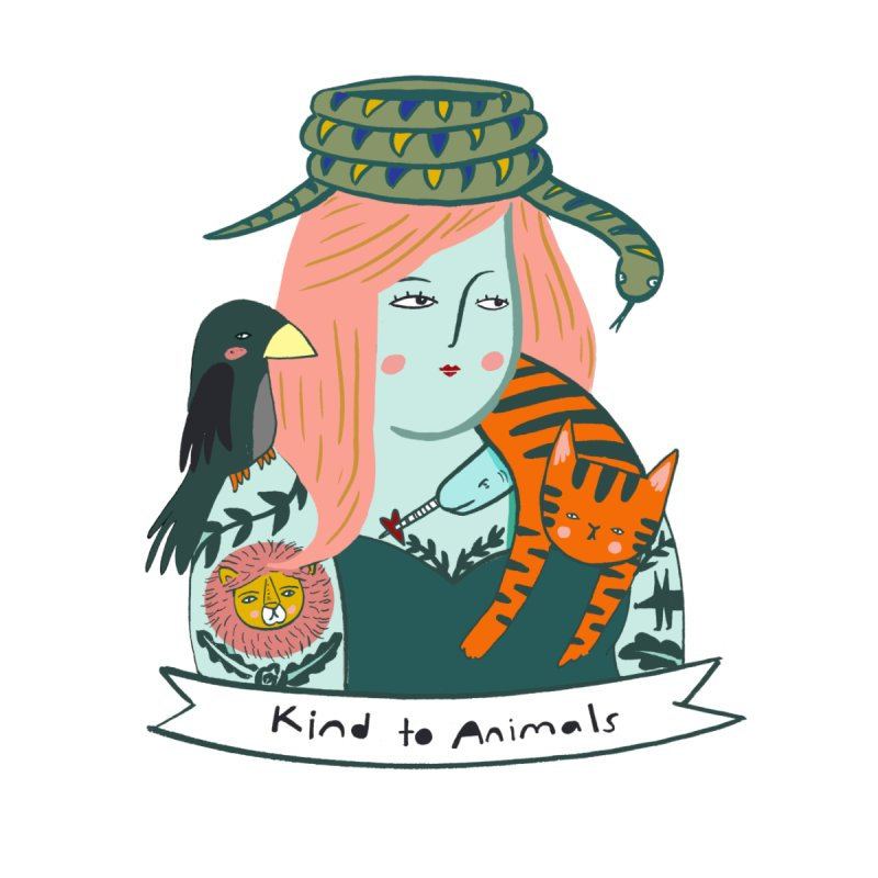 Kind To Animals Men's T-Shirt by pinkcheeksstudios's Artist Shop