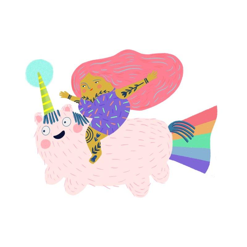Unicorn Rider Men's T-Shirt by pinkcheeksstudios's Artist Shop