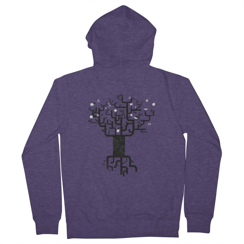 Web Tree Men's Zip-Up Hoody by pinkeyedpet's Artist Shop