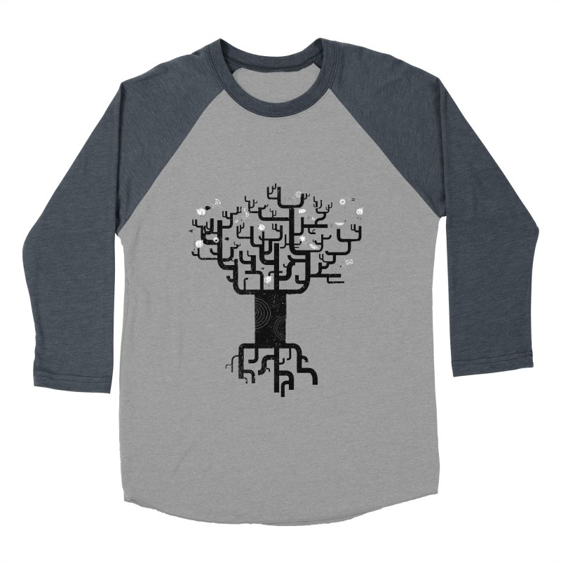 Web Tree Men's Baseball Triblend T-Shirt by pinkeyedpet's Artist Shop