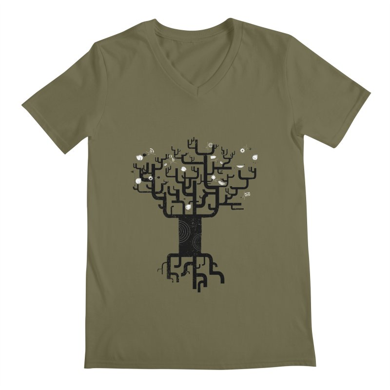 Web Tree Men's V-Neck by pinkeyedpet's Artist Shop