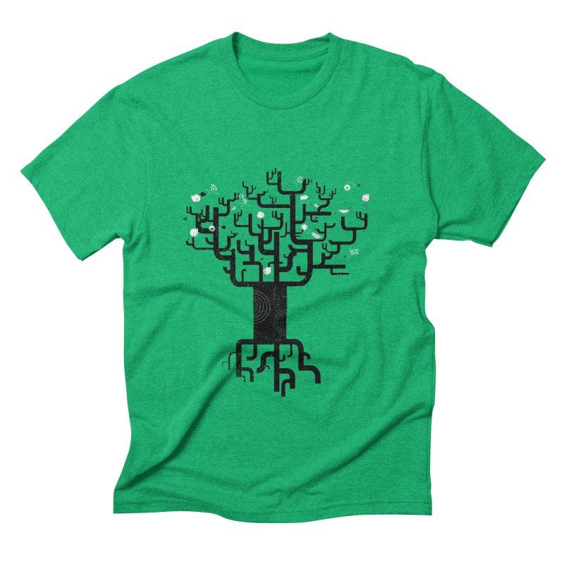 Web Tree Men's Triblend T-shirt by pinkeyedpet's Artist Shop