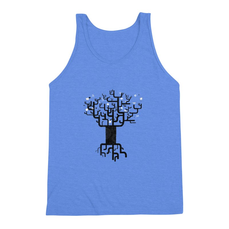 Web Tree Men's Triblend Tank by pinkeyedpet's Artist Shop