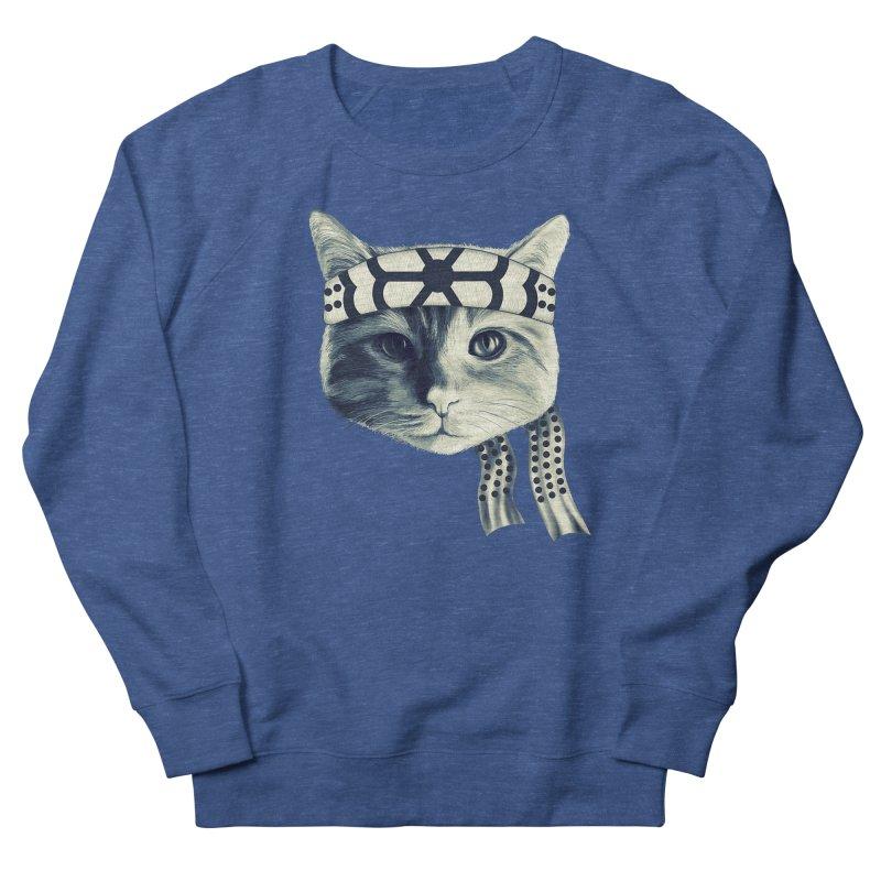 Karate Cat Women's French Terry Sweatshirt by Pinkstorm
