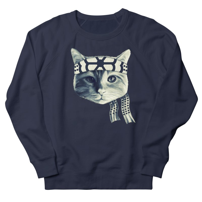 Karate Cat Women's French Terry Sweatshirt by Pinkstorm