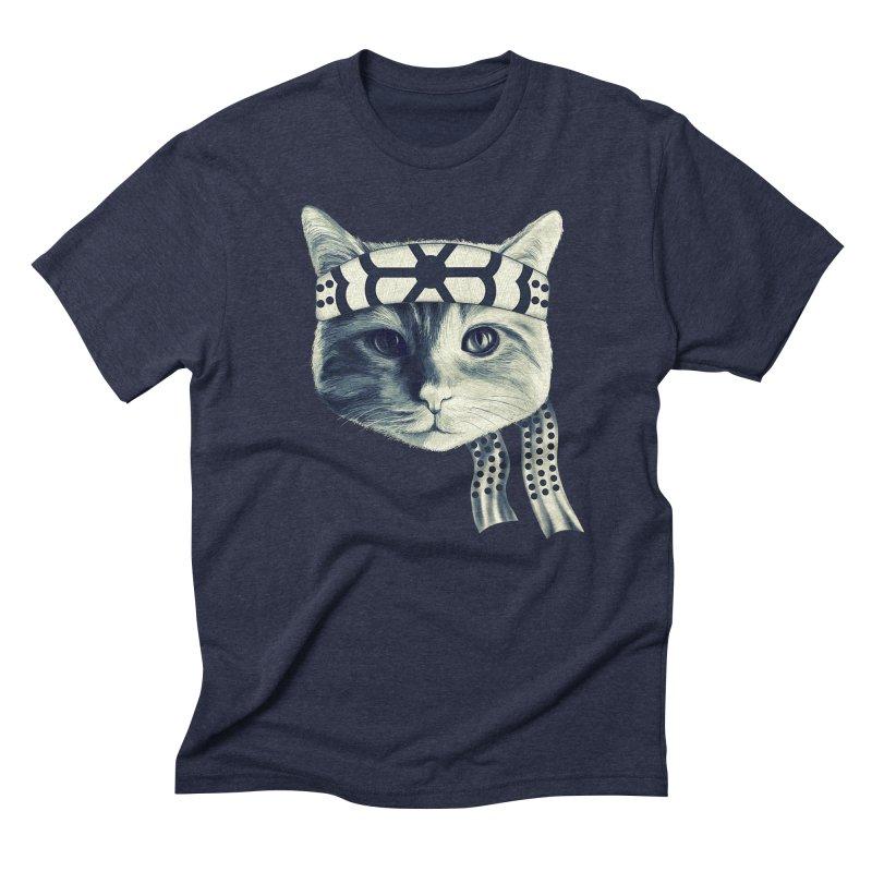 Karate Cat Men's Triblend T-Shirt by Pinkstorm