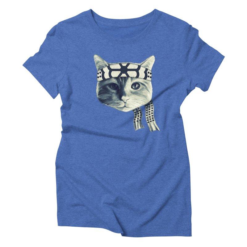 Karate Cat Women's Triblend T-Shirt by Pinkstorm
