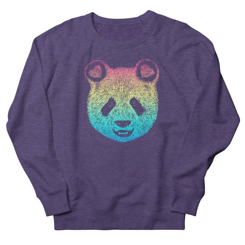 Rainbow Panda Women's French Terry Sweatshirt by Pinkstorm