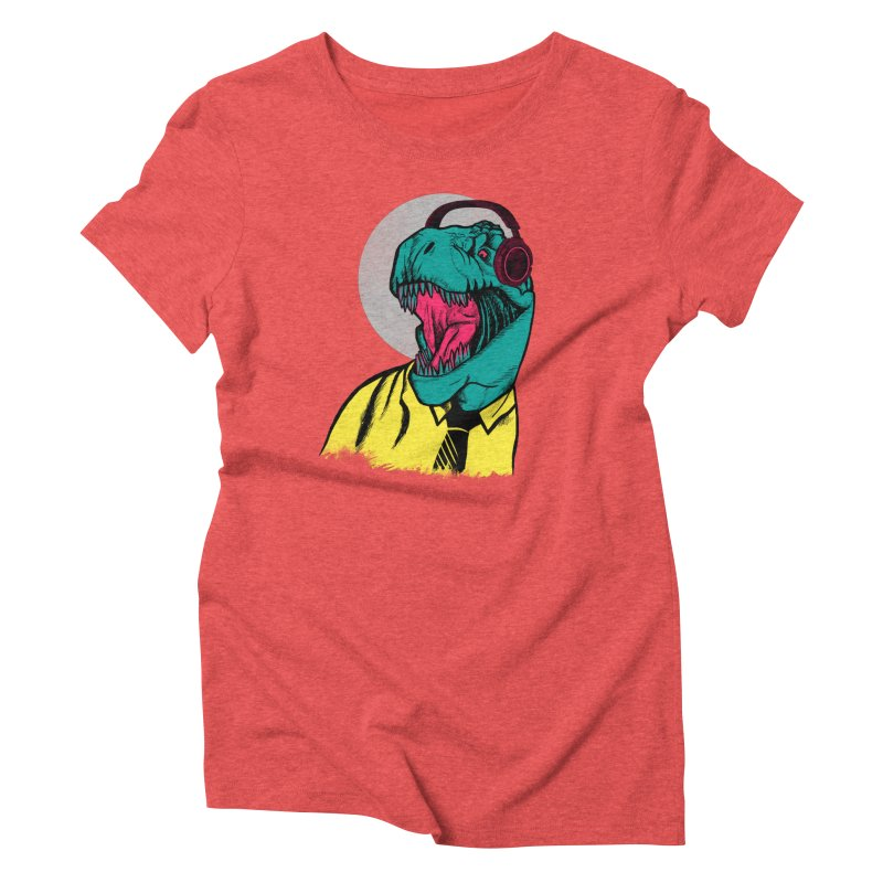 Modern Dino Women's Triblend T-Shirt by Pinkstorm