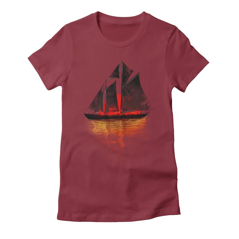 Eastern Sunset Women's Fitted T-Shirt by Pinkstorm