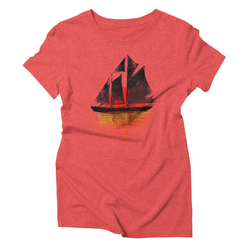 Eastern Sunset Women's Triblend T-Shirt by Pinkstorm