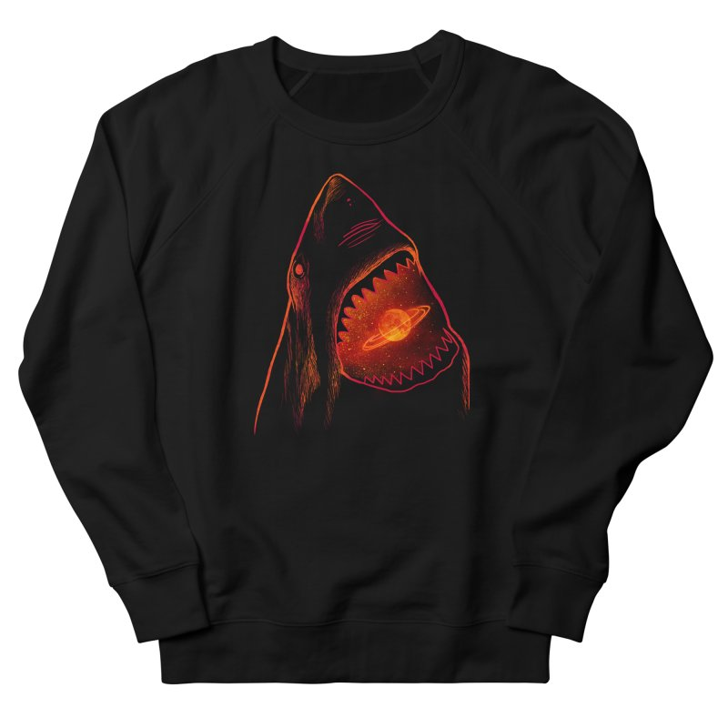 Planet Sharkturn Women's French Terry Sweatshirt by Pinkstorm