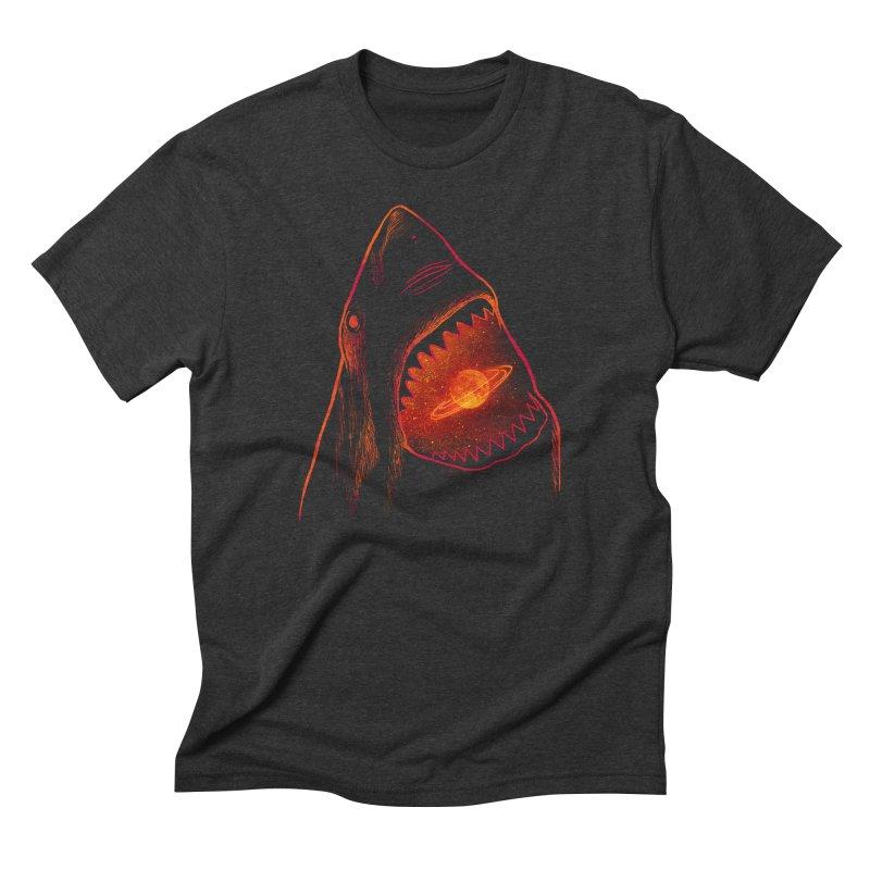Planet Sharkturn Men's Triblend T-Shirt by Pinkstorm