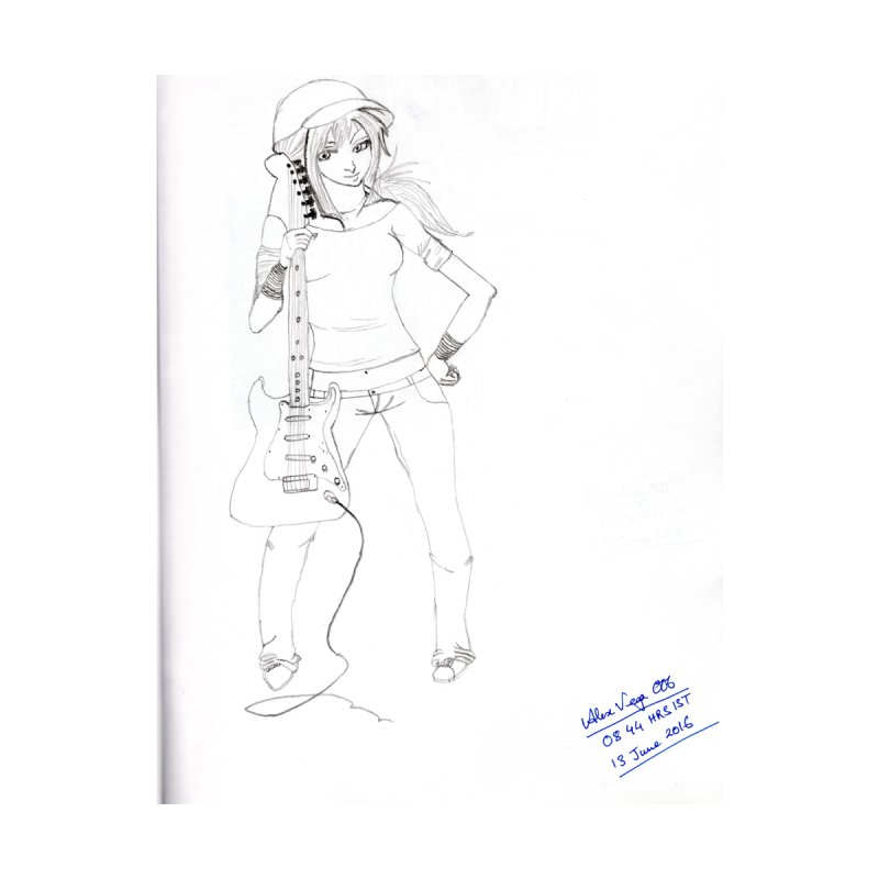 Guitar Girl by Pintada Artist Shop