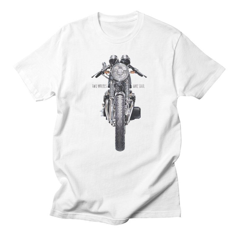"""""""Two Wheels One Soul"""": only for passionates! in Men's Regular T-Shirt White by Pinupart.it - Mad Mac"""