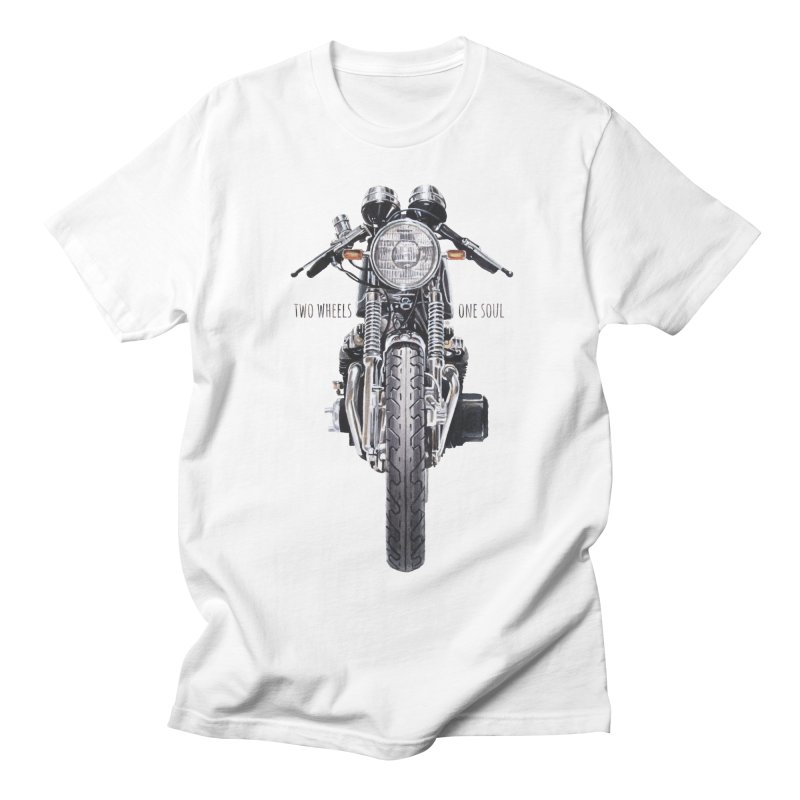 """Two Wheels One Soul"": only for passionates! in Men's Regular T-Shirt White by Pinupart.it - Mad Mac"