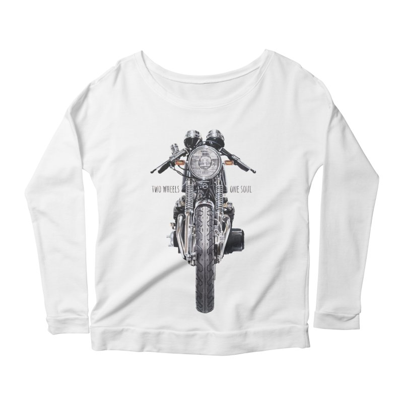 """""""Two Wheels One Soul"""": only for passionates! Women's Scoop Neck Longsleeve T-Shirt by Pinupart.it - Mad Mac"""
