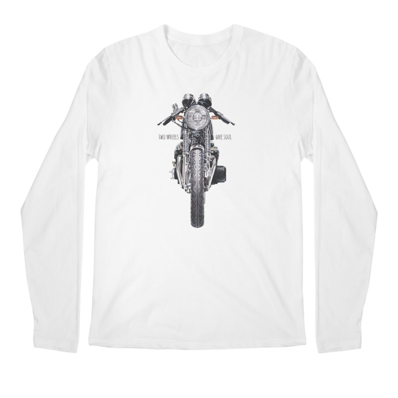 """""""Two Wheels One Soul"""": only for passionates! Men's Longsleeve T-Shirt by Pinupart.it - Mad Mac Art"""