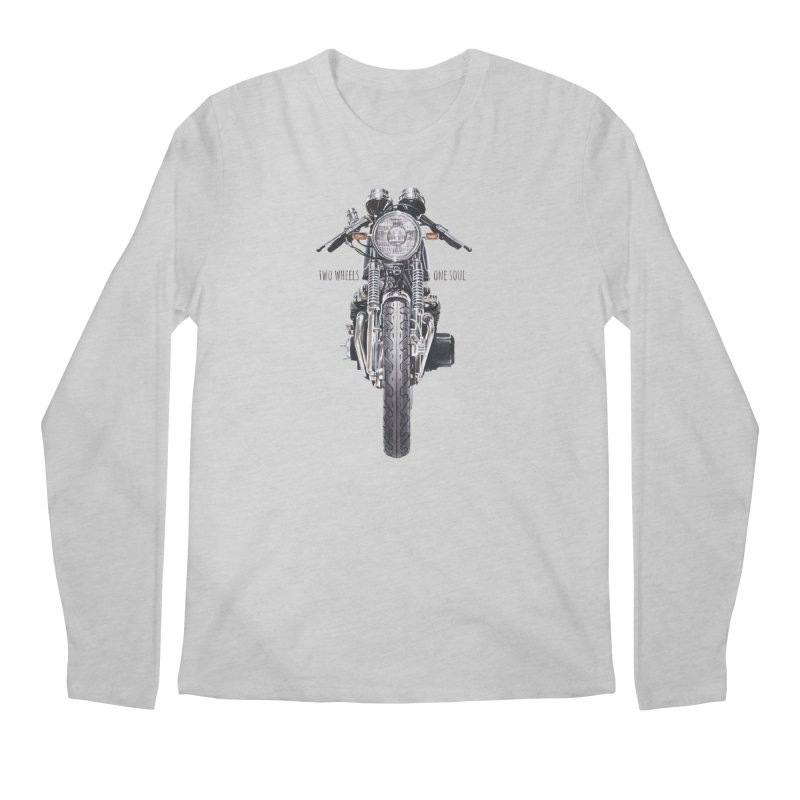"""Two Wheels One Soul"": only for passionates! Men's Longsleeve T-Shirt by Pinupart.it - Mad Mac Art"