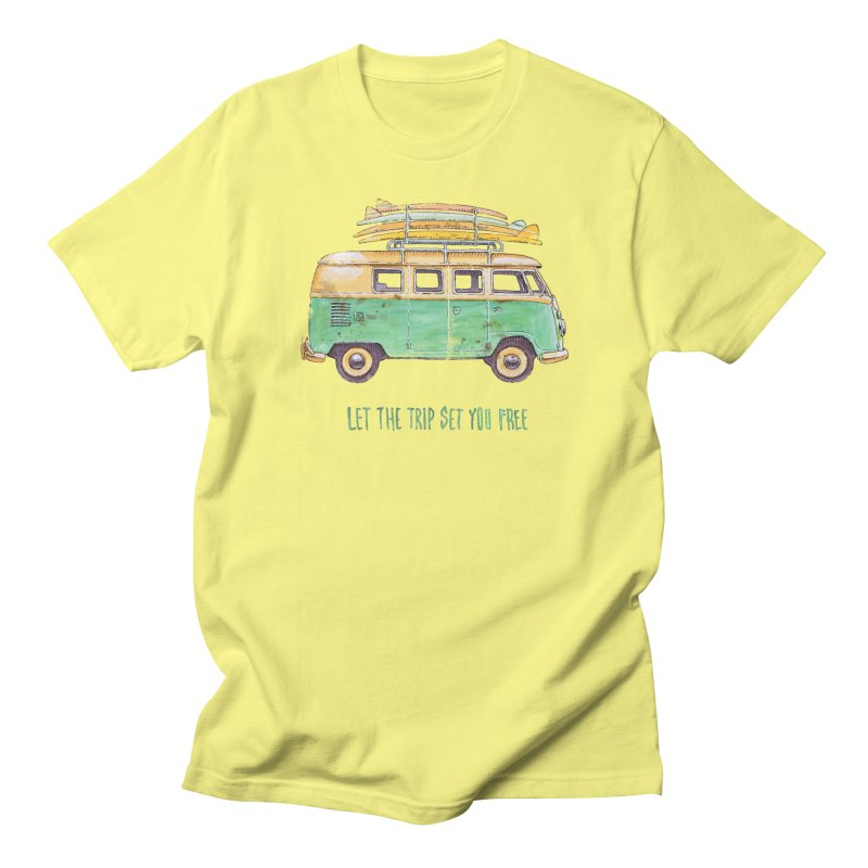 """""""Let the trip set you free"""": take time to live! in Men's Regular T-Shirt Lemon by Pinupart.it - Mad Mac"""