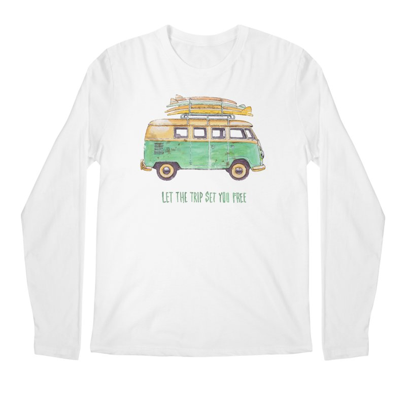 """""""Let the trip set you free"""": take time to live! Men's Regular Longsleeve T-Shirt by Pinupart.it - Mad Mac"""