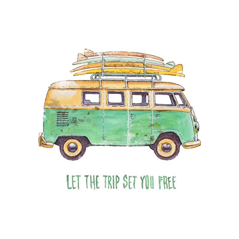 """""""Let the trip set you free"""": take time to live! Women's Longsleeve T-Shirt by Pinupart.it - Mad Mac Art"""