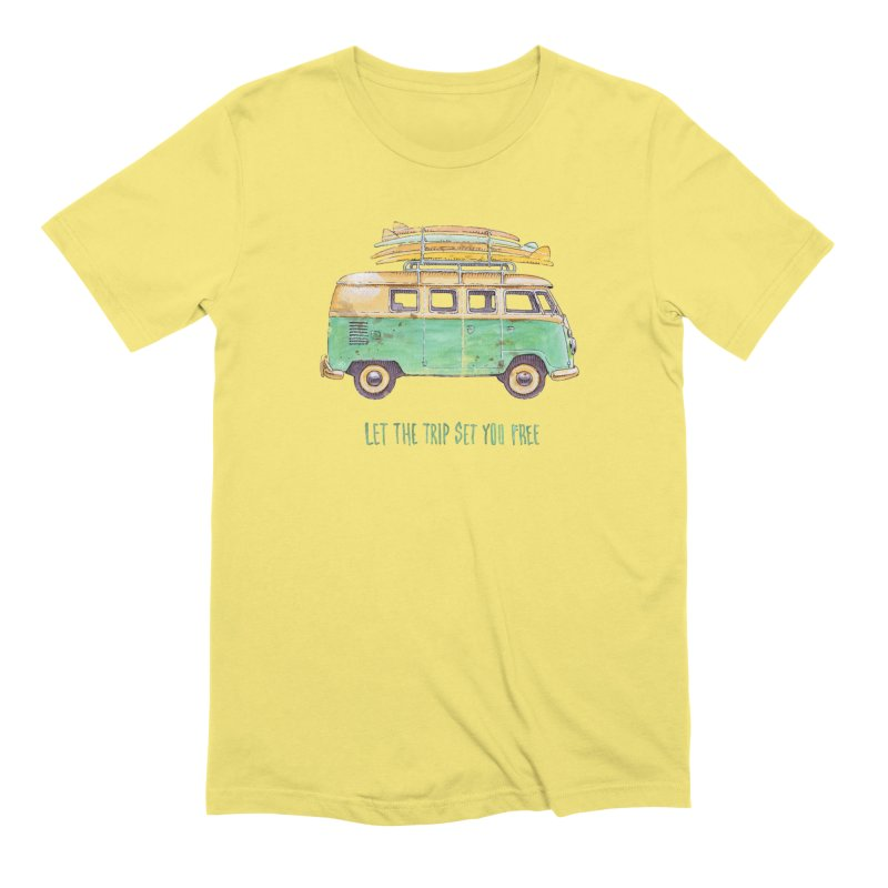 """""""Let the trip set you free"""": take time to live! Men's T-Shirt by Pinupart.it - Mad Mac Art"""