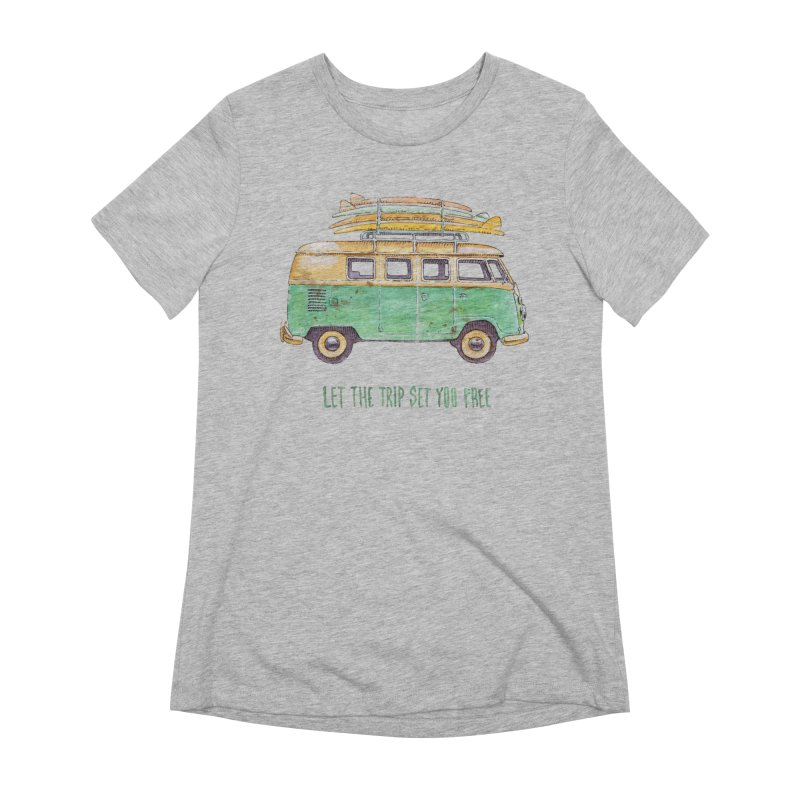 """""""Let the trip set you free"""": take time to live! Women's T-Shirt by Pinupart.it - Mad Mac Art"""