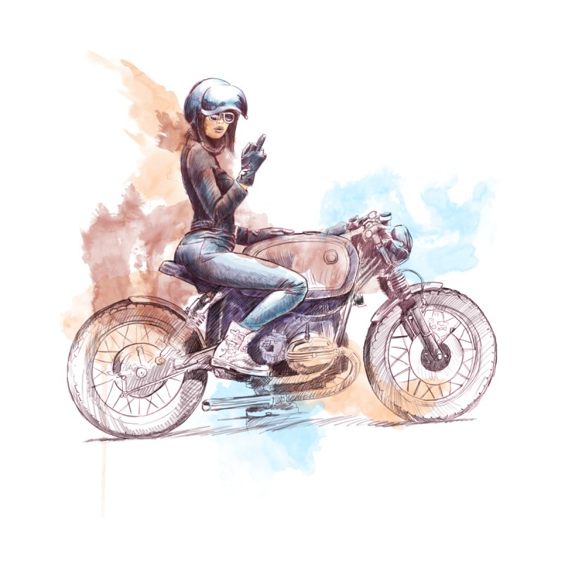 """Cafè Racer"": just ride, fuck the rest! Men's T-Shirt by Pinupart.it - Mad Mac Art"