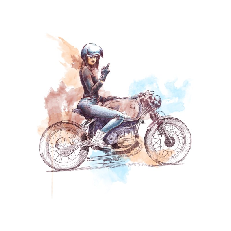 """""""Cafè Racer"""": just ride, fuck the rest! Men's T-Shirt by Pinupart.it - Mad Mac Art"""