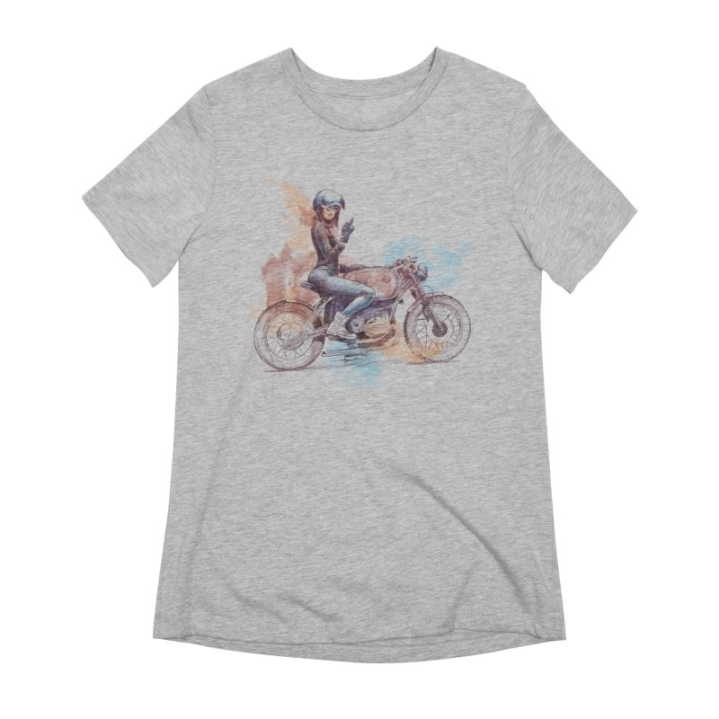"""""""Cafè Racer"""": just ride, fuck the rest! Women's T-Shirt by Pinupart.it - Mad Mac Art"""