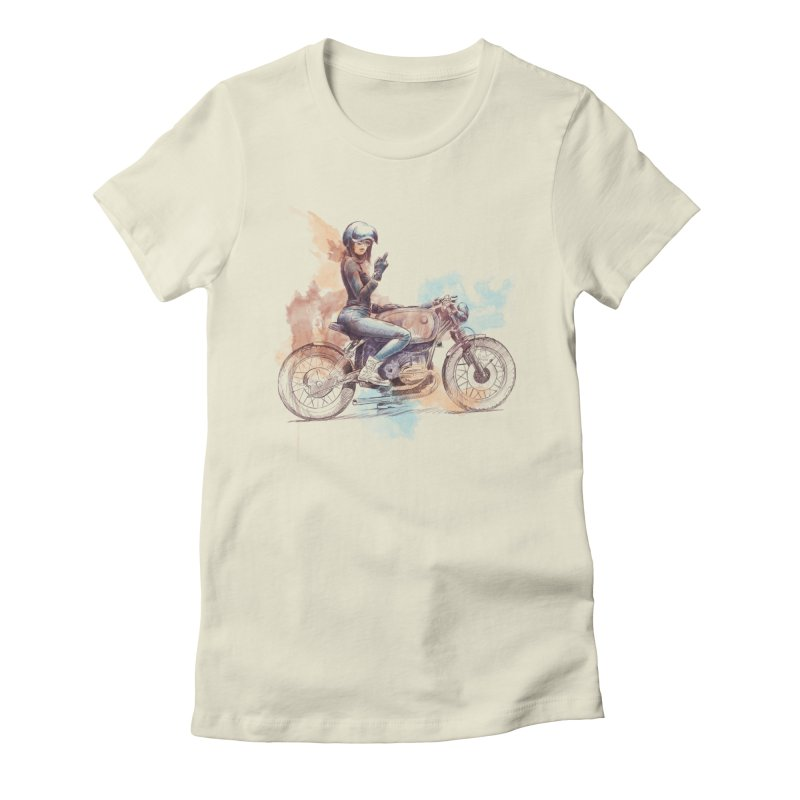 """Cafè Racer"": just ride, fuck the rest! Women's T-Shirt by Pinupart.it - Mad Mac Art"