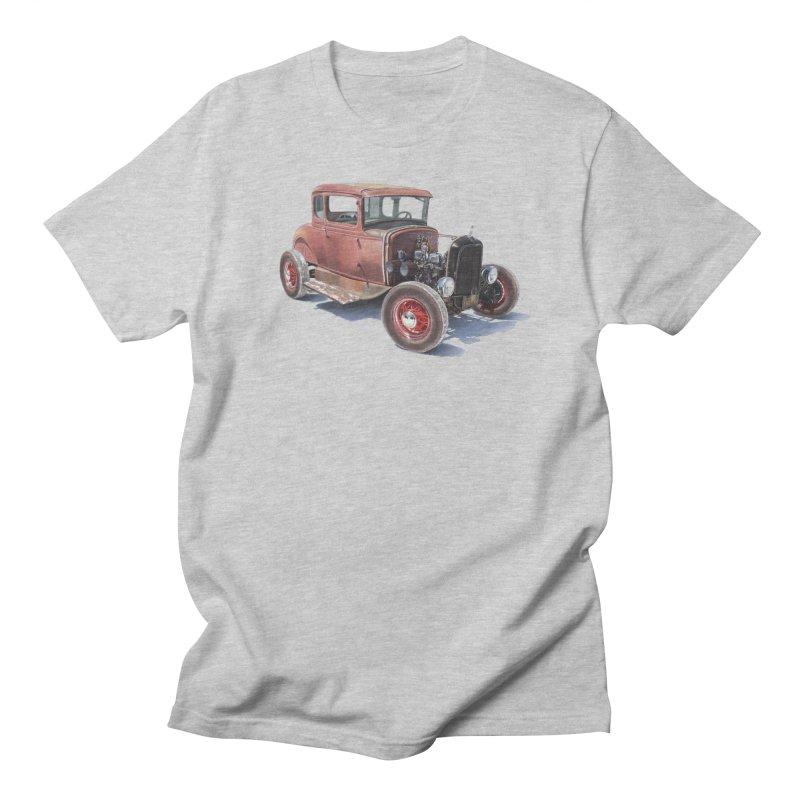 """Hot Rod on salt flat"": best of classic! Men's T-Shirt by Pinupart.it - Mad Mac Art"