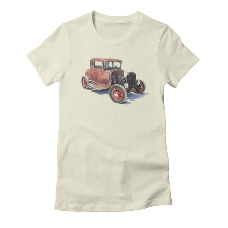 """Hot Rod on salt flat"": best of classic! Women's T-Shirt by Pinupart.it - Mad Mac Art"