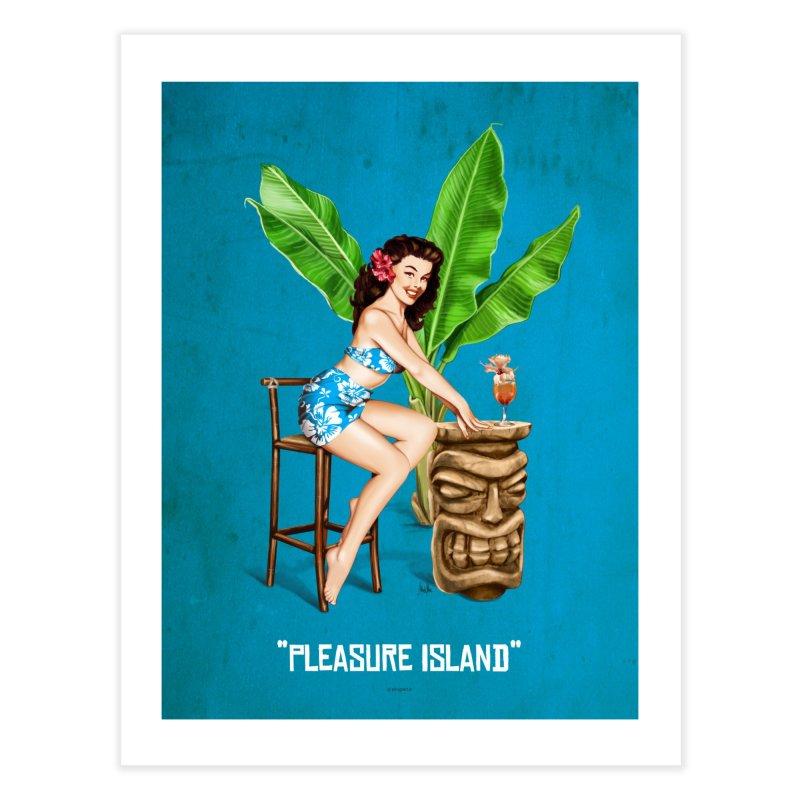 """Pleasure Island"": exotic stuff! Home Fine Art Print by Pinupart.it - Mad Mac Art"