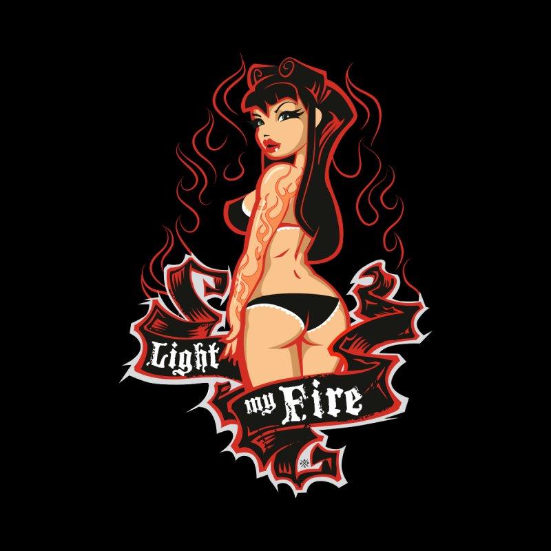 """Light My Fire"": burn, boy, burn! Women's Longsleeve T-Shirt by Pinupart.it - Mad Mac Art"