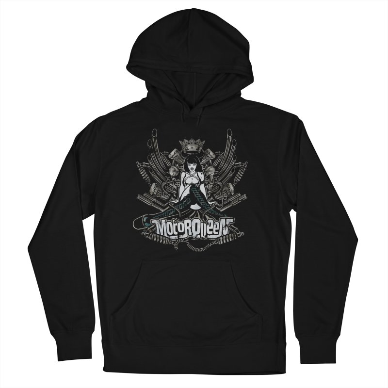 """""""Motorqueen"""": our undisputed Queen of engines! Women's French Terry Pullover Hoody by Pinupart.it - Mad Mac"""