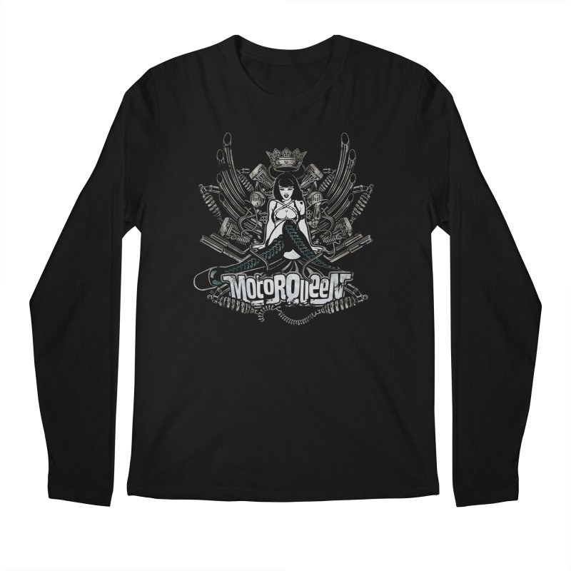 """Motorqueen"": our undisputed Queen of engines! Men's Regular Longsleeve T-Shirt by Pinupart.it - Mad Mac"