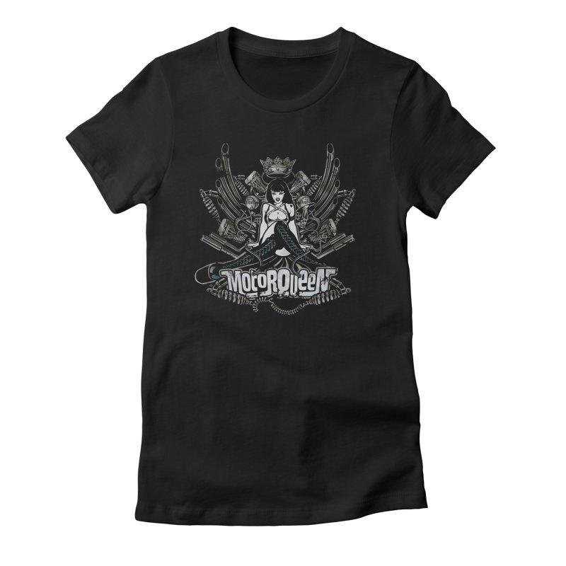 """Motorqueen"": our undisputed Queen of engines! Women's T-Shirt by Pinupart.it - Mad Mac Art"