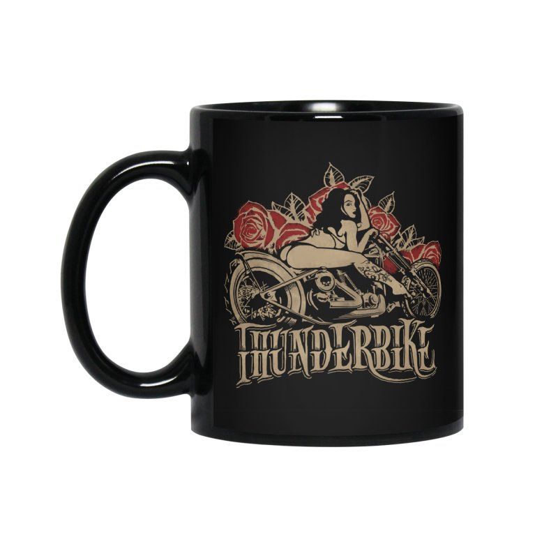 """Thunder bike"": powerful as a thunder! in Standard Mug Black by Pinupart.it - Mad Mac"
