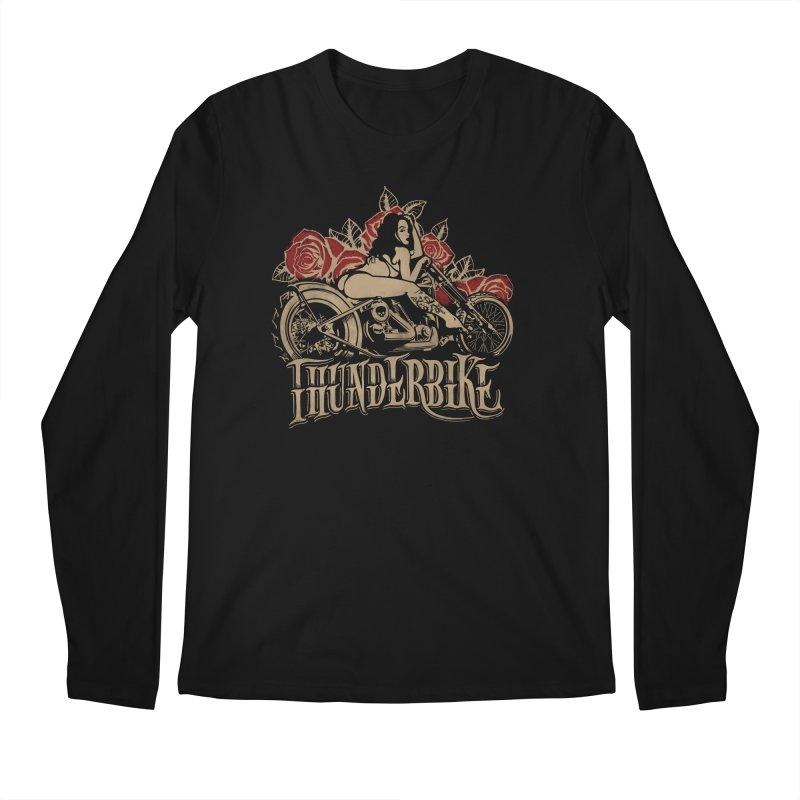 """Thunder bike"": powerful as a thunder! Men's Regular Longsleeve T-Shirt by Pinupart.it - Mad Mac"