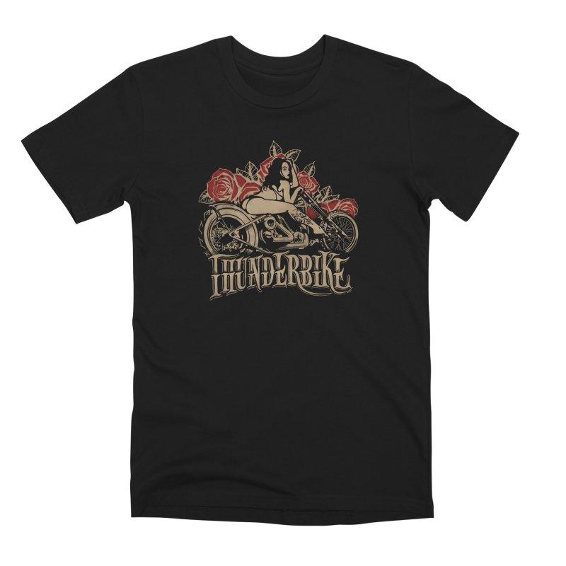 """Thunder bike"": powerful as a thunder! Men's T-Shirt by Pinupart.it - Mad Mac Art"