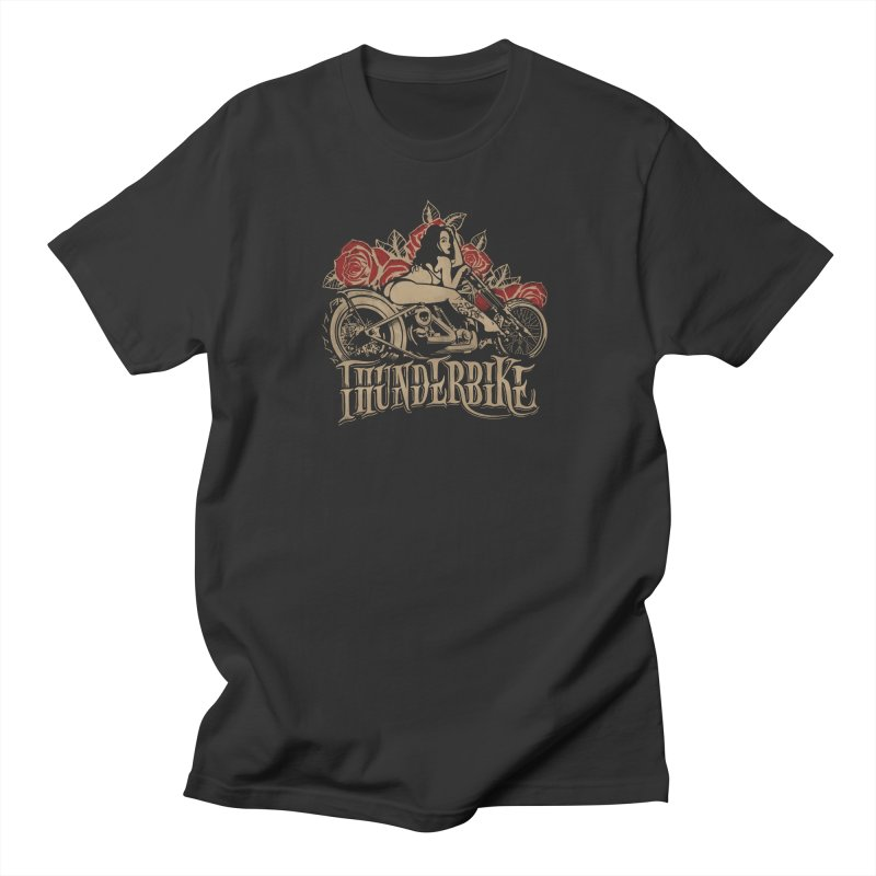 """Thunder bike"": powerful as a thunder! Men's T-Shirt by Pinupart.it - Mad Mac Art"
