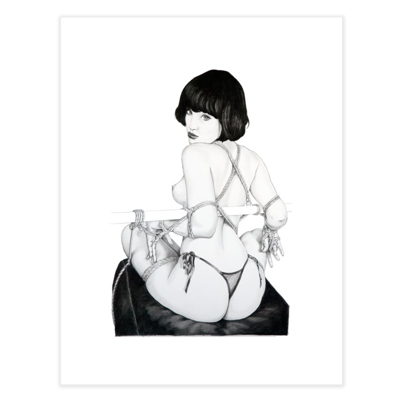 """""""Tie Me Up!"""": a sexy bondage girl ask you! Home Fine Art Print by Pinupart.it - Mad Mac Art"""