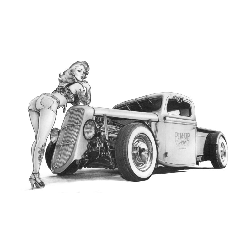 """Hot Rod and Tattoo"": a cool mix! Women's Tank by Pinupart.it - Mad Mac Art"